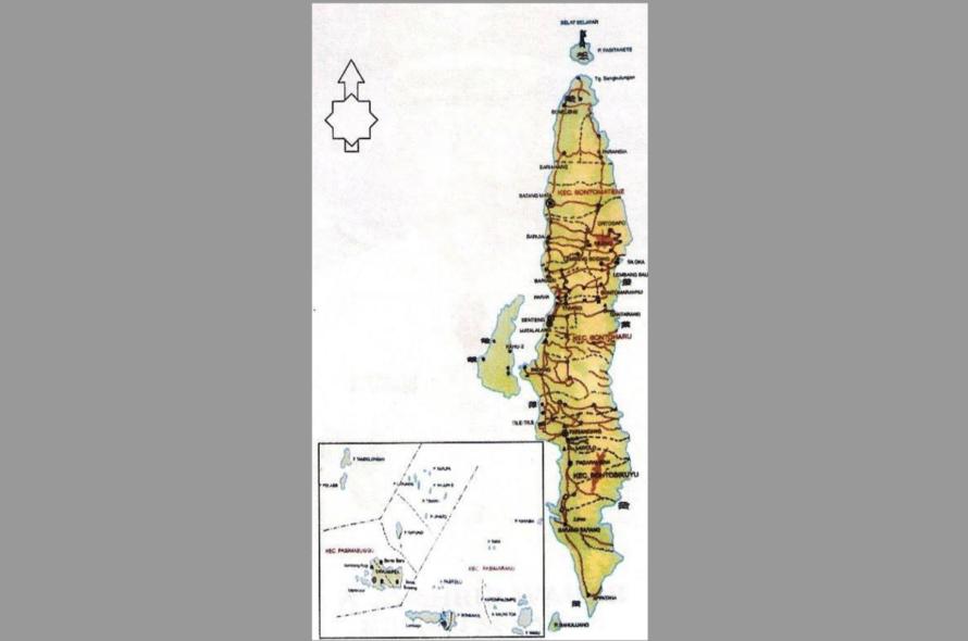 Letak Geografis Kabupaten Kepulauan Selayar